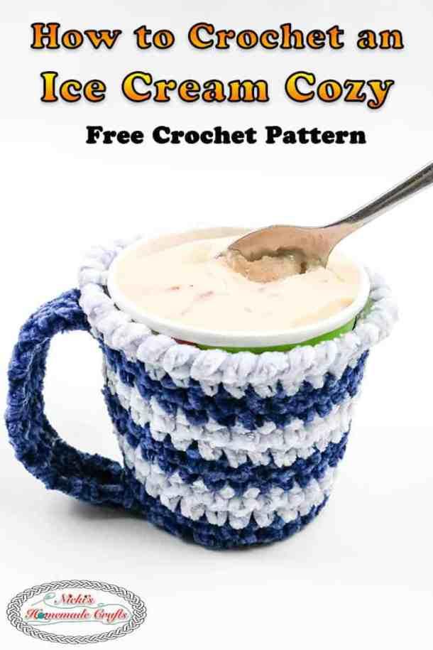Crocheted Ice Cream Cozy