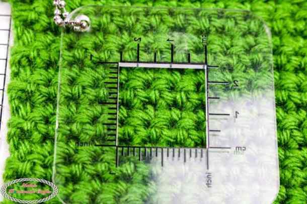 crochet gauge measure