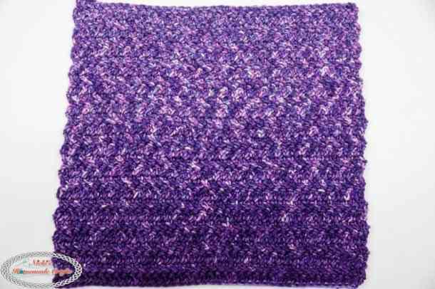 washcloth made with herringbone double crochet