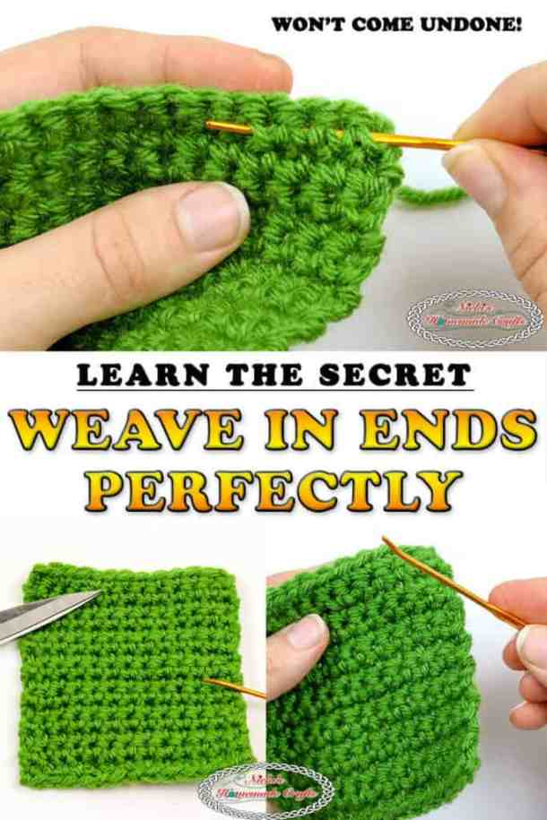 how to weave in ends perfectly