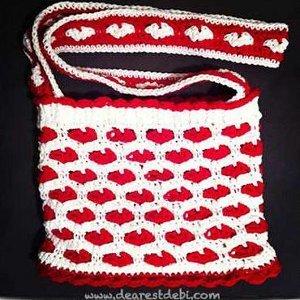 Crochet Sweet Hearts Pattern for a Fabulous Bag Free Crochet Pattern
