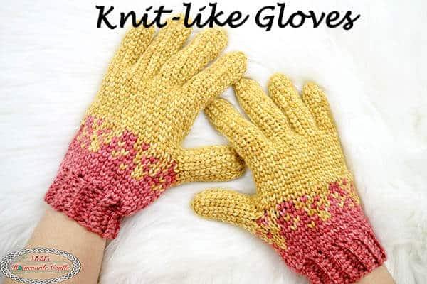 Crochet gloves -free pattern