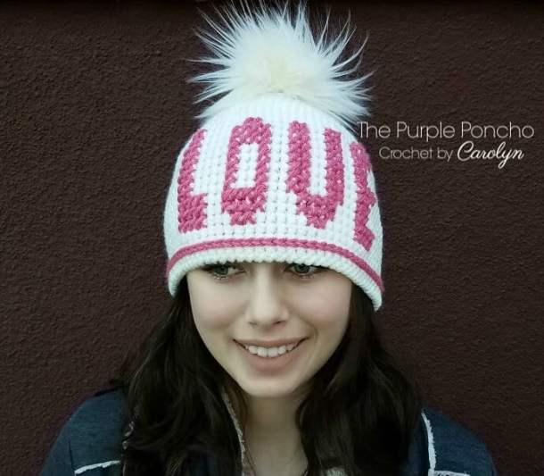 Love Beanie Hat Free Crochet Pattern