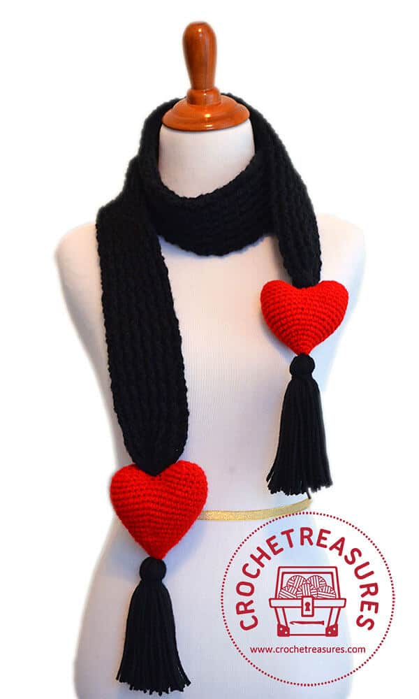 Lover's Knot Scarf Free Crochet Pattern