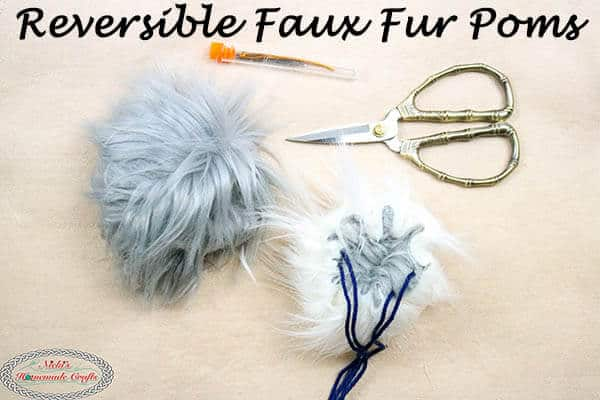 How to Make amazing Reversible Faux Fur Pom Poms