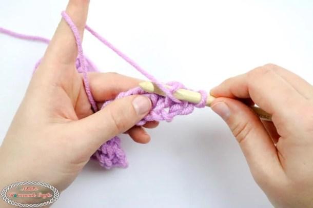 crochet Tunisian Purl Stitch