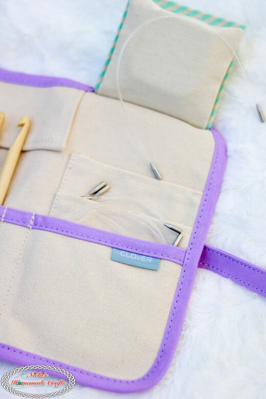 Storage of Clover Interchangeable Tunisian Crochet Hook Set