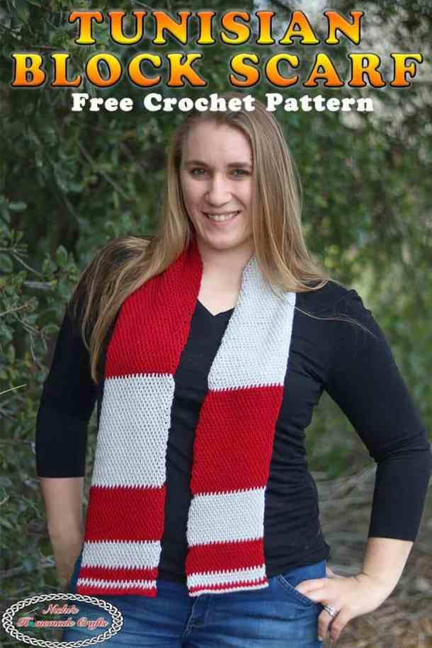 Tunisian Block Scarf - Free Crochet Pattern