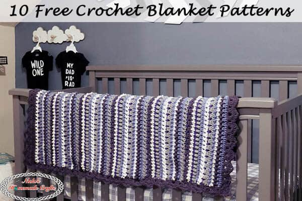 10 Free Crochet Blanket Patterns using Red Heart Super Saver Yarn
