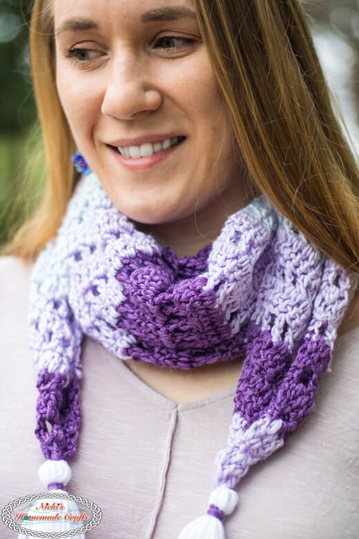 Diamond Scarf Crochet Pattern closeup