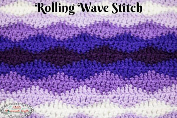 Crochet Rolling Waves Stitch Tutorial