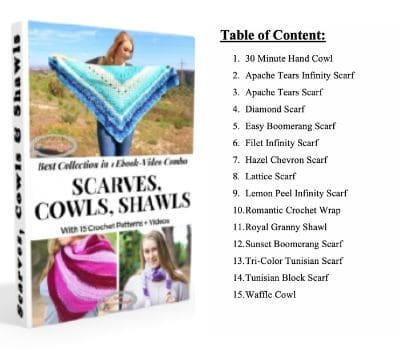 Scarf, Cowl, Shawl Ebook Content