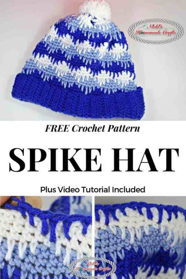 Spike Hat - Free Crochet pattern