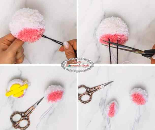 Unicorn Pom-Pom Clover Free DIY Tutorial Step 3