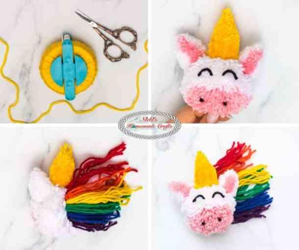 Unicorn Pom-Pom Clover Free DIY Tutorial Step 4