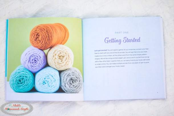 Content of Crochet Cute Critters Book shown off