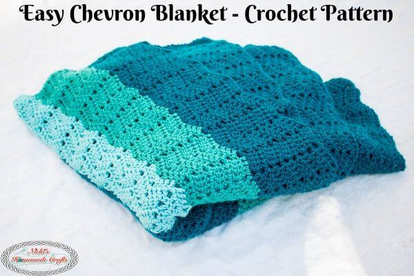 Easy Crochet Chevron Blanket Pattern