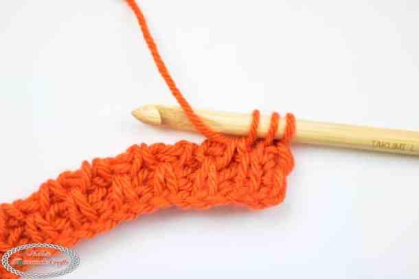 Smock Crochet Stitch Tunisian Tutorial Row 2