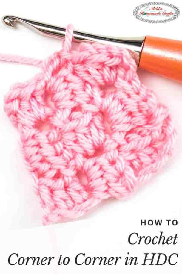 Corner to Corner in Half Double Crochet Tutorial