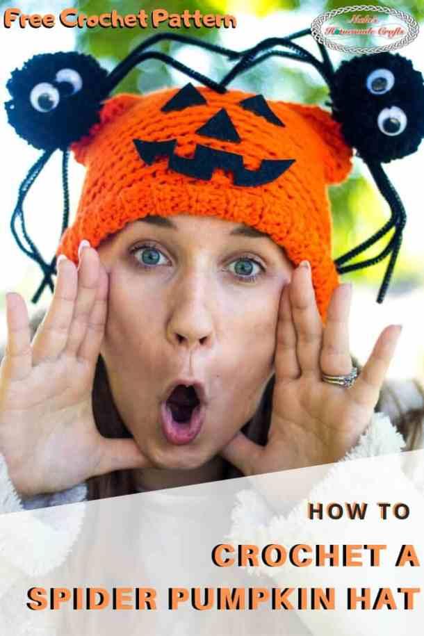 Crochet Spider Pumpkin Hat BOO