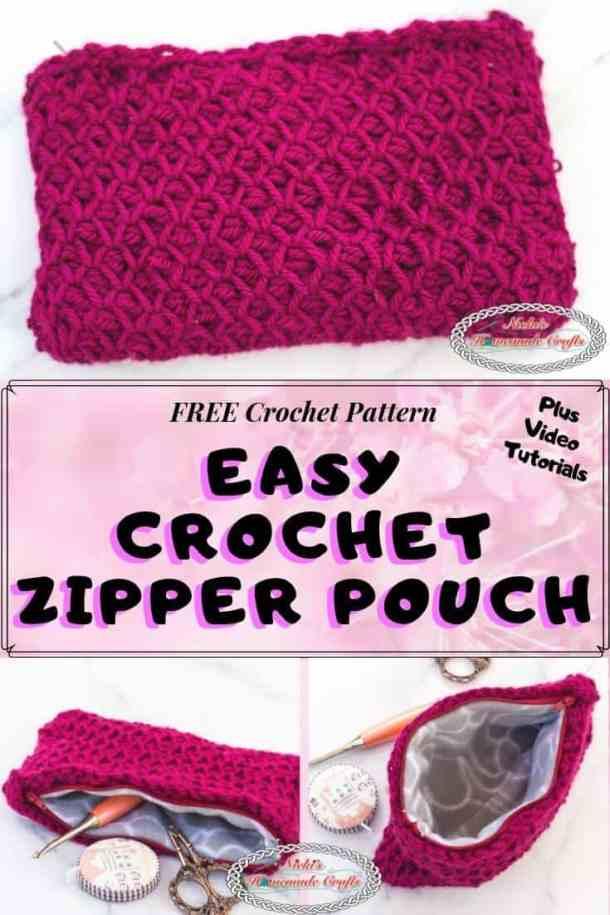 Easy Crochet Zipper Pouch
