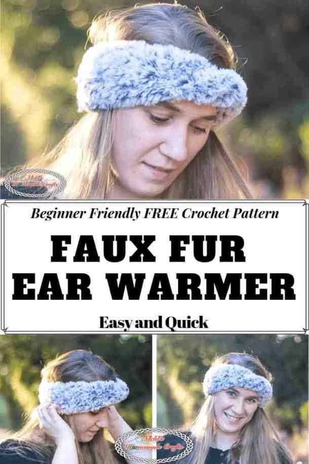 Faux Fur Ear Warmer - Free Crochet Pattern