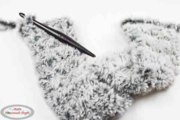 Crochet the Faux Fur Ear Warmers