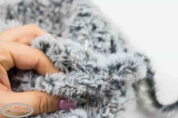 Sewing the Faux Fur Ear Warmers