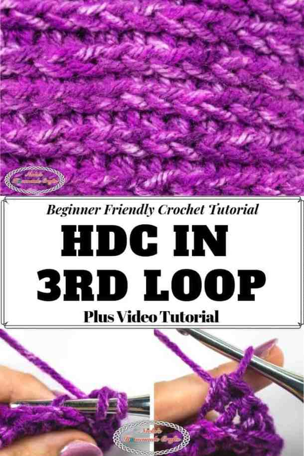 Half Double Crochet in the third loop behind V Tutorial