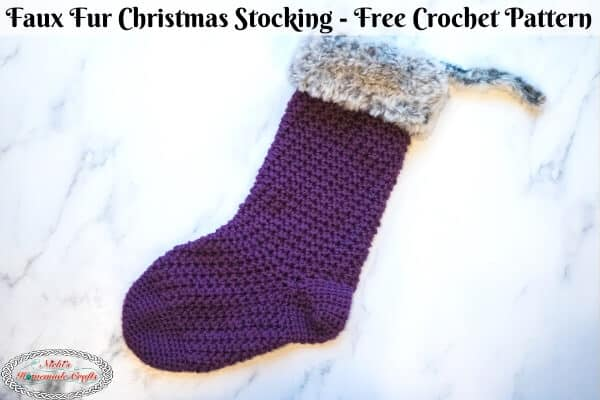 Faux Fur Christmas Stocking - Free Crochet Pattern