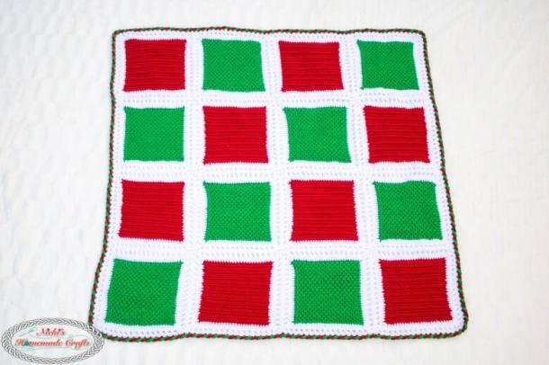 Holiday Square Blanket Crochet Pattern full