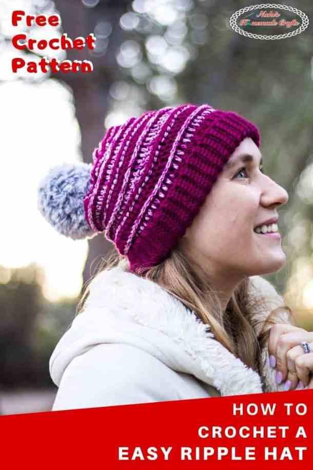 Easy Ripple Hat - Free Crochet Pattern