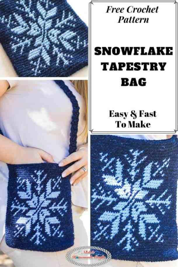 Crochet Snowflake Bag Pattern