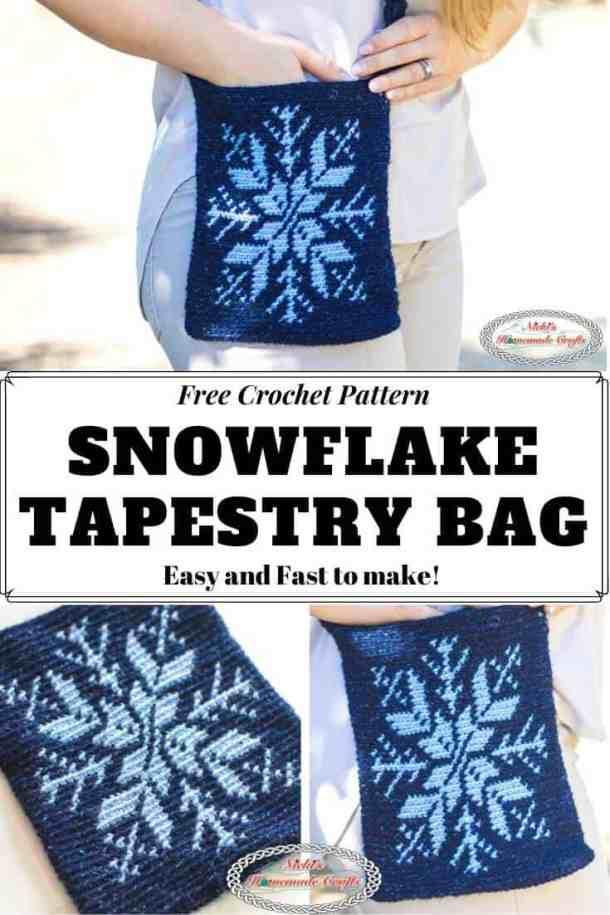 Snowflake Tapestry Bag Crochet Pattern Free