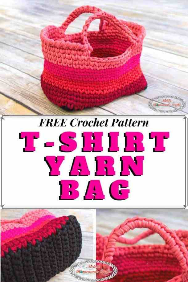 T-shirt yarn bag - free crochet pattern