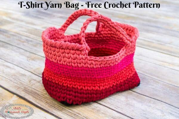 T-shirt yarn bag - pattern