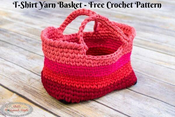 T-shirt yarn basket pattern