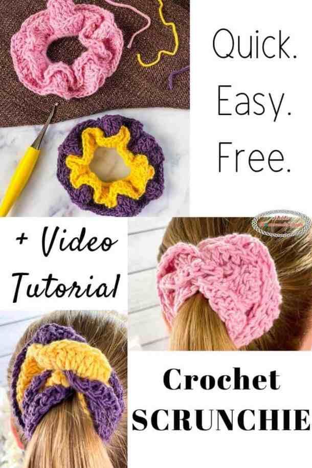 Scrunchie - Free Crochet Pattern