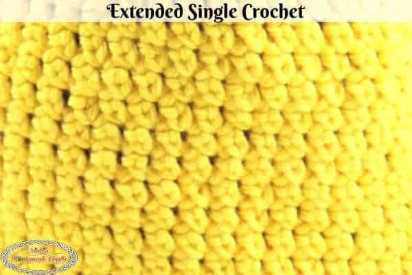 Extended Single Crochet Stitch
