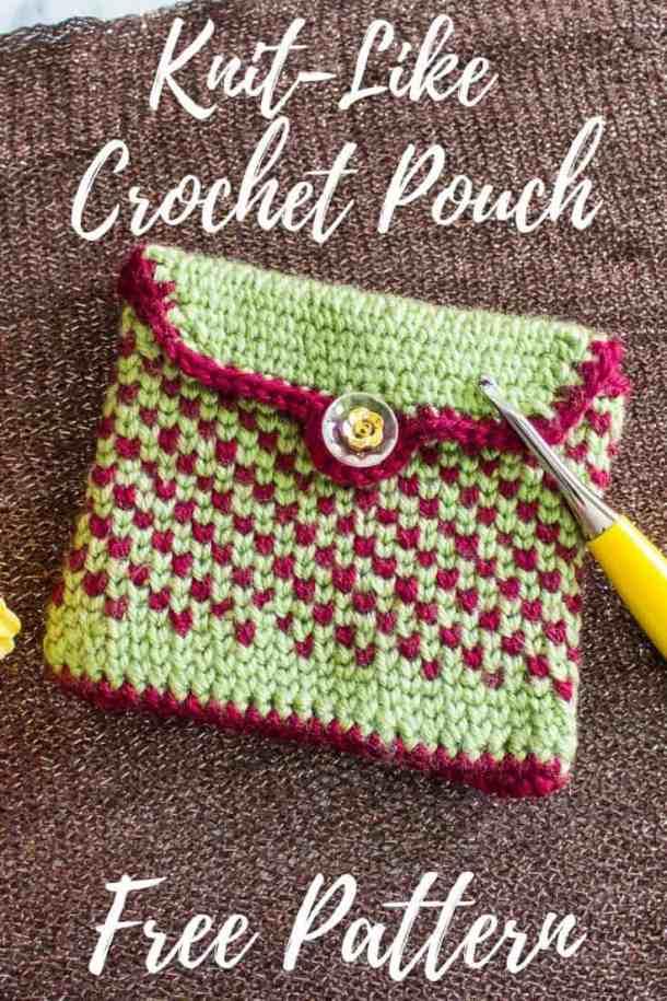 Knit-Like Crochet Pouch - Free Pattern