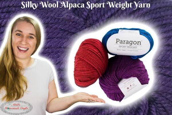 Silky Sport Yarn with Wool and Alpaca