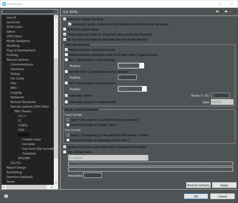Use RDi to make RPGLE lowercase 1