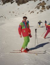 Nick Litten ski in 1989 in Italy