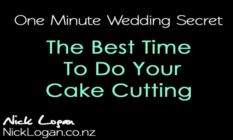 Timesaving Wedding Cake Cutting Trick