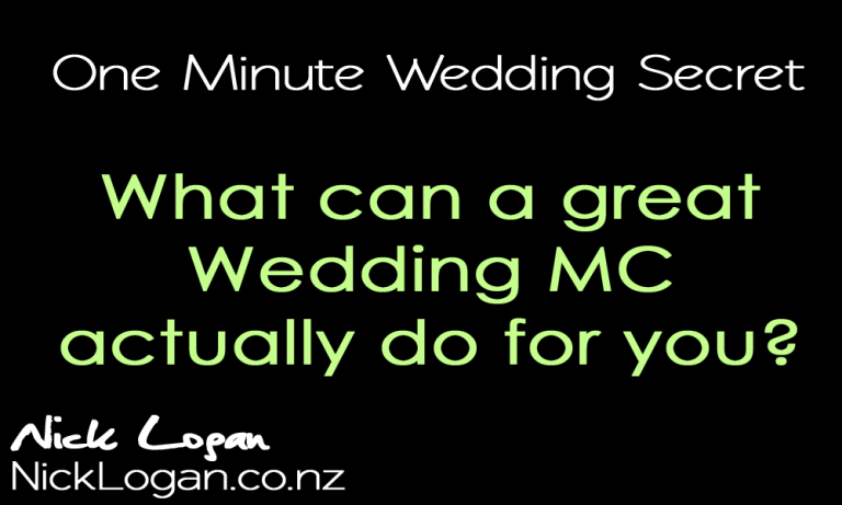 Why Use a Professional Wedding MC?