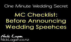 Before announcing wedding speeches