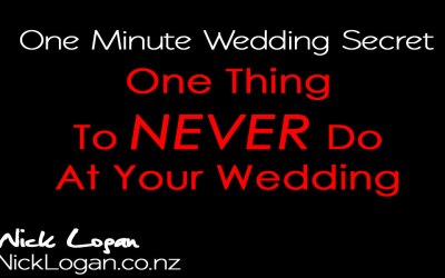 Don't do this at weddings.  Ever!