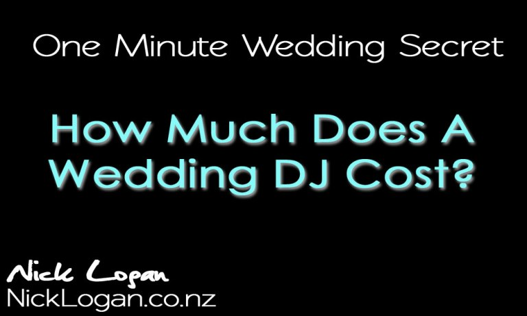 "Before you ask ""How much does a Wedding DJ cost?"""