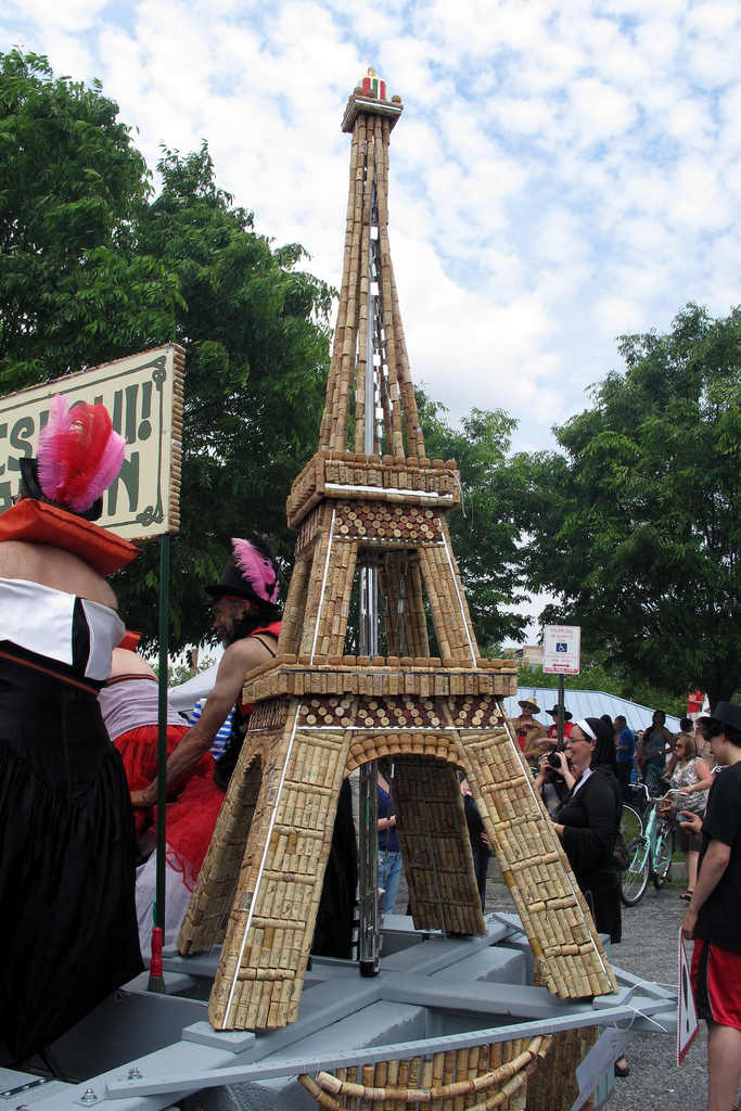 Eiffel Tower made from corks, it floats just in case.