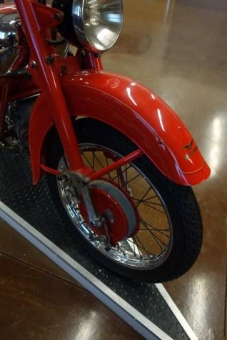Moto Guzzi 1948 Astore 500 cc from Italy - front fender like a Roman galea helmet
